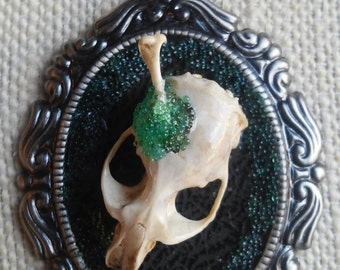 "Bone Pendant Necklace, ""Smashing"""