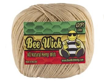 Bee Wick Hemp- All Natural  Hemp Wick