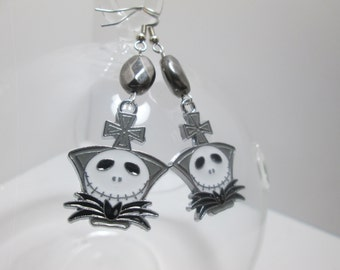 Nightmare Before Christmas earrings on Surgical Steel Wires / ItemI-108