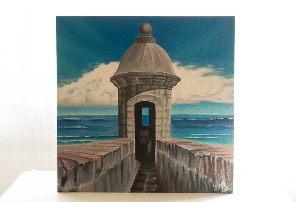 Old San Juan Wall Decor : Puerto rico art fine old san juan acrylic painting