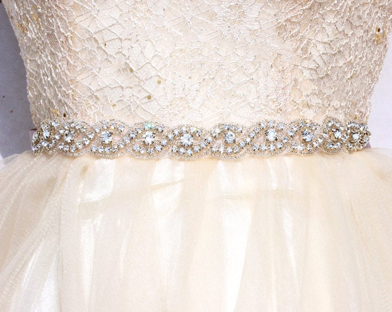 SALE All around bridal belt Wedding sashes and belts Wedding