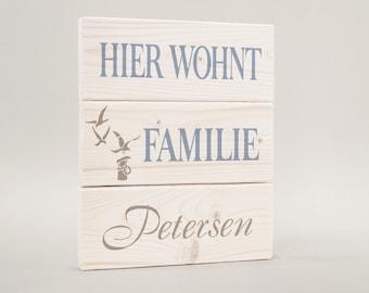 Door sign, door sign surname, family gulls