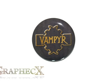 Fan-made Vampyr Slayers Handbook Buffy the Vampire Slayer Cosplay inspired personalized button