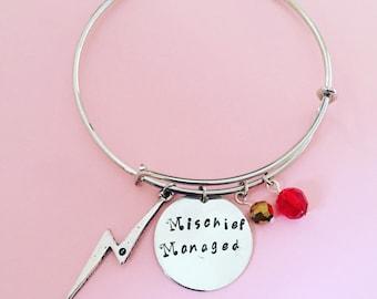 Harry Potter Hand-Stamped Bracelet