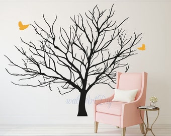 arbre mural stickers bouleau arbre murales sticker mural arbre. Black Bedroom Furniture Sets. Home Design Ideas