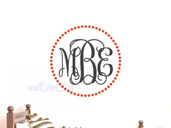 monogram wall decals monogram wall sticker nursery by amazon com monogrammed wall stickers