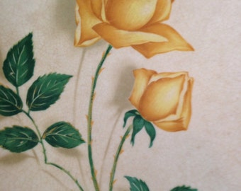 Canonsburg Yellow Rose Platter