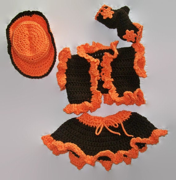 Crochet Cowgirl Costume Infant baby cowgirl by ...