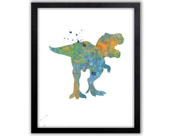 T-rex, T-rex Art, Boys Room Art, Boys Room Decor, Boys Wall Art, Dinosaur Art, Limited Edition Art Prints - DIN2002P