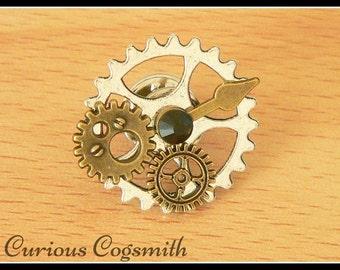 Black Steampunk Hat Pin - Steampunk Tie Pin - Dieselpunk Tie Pin - Steampunk Pin - Cog Pin - Steampunk Jewellery - Steampunk Hat Pin