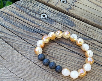 Tan & Cream Essential Oil Bracelet
