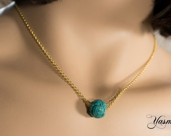 Dragon Ball gold plated turquoise in Sterling