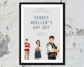 Ferris Bueller's Day Off high quality film print (A5, A4, A3)