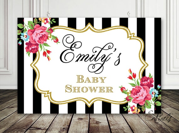 baby shower backdrop baby shower sign 1st birthday baptism