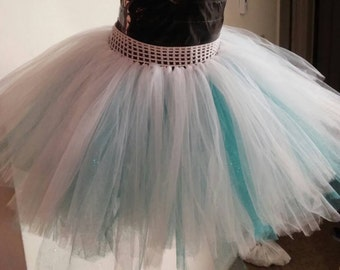 White and Blue Christmas Tutu for Kids ~ Frozen Inspired ~ Ready to Ship!