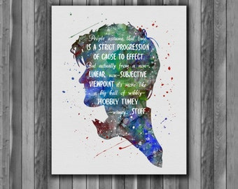 Doctor Who quote art -  watercolor, Art Print, instant download,  Watercolor Print, poster