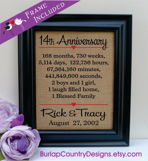 14th Year Wedding Anniversary Gift: 14th Anniversary 14th Wedding Anniversary Gift 14th