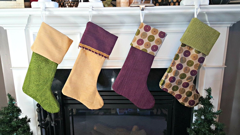 Handmade Designer Christmas Stockings - Plum Holiday Collection