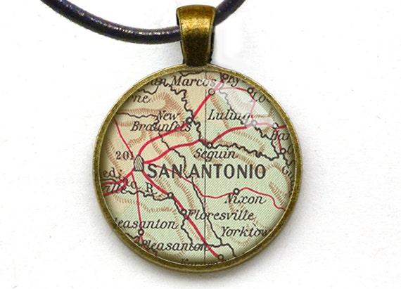 items similar to san antonio map jewelry fashionable