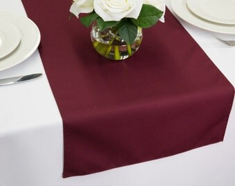 Burgundy Table Runner Polyester