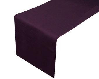 Plum Table Runner Polyester | Wedding Decoration