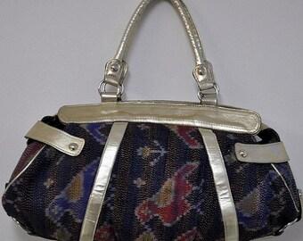 Silk sari kantha purse Boho Purse bag