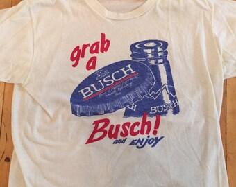 "Late 70s ""Grab A Busch and Enjoy!"" T-Shirt"