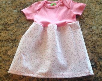 Mini Heart-Flower Onesie Dress