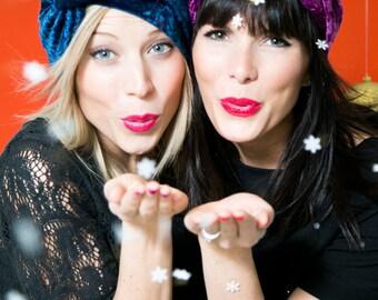 Velvet Turban Headband- Winter fashion headband- Warm Headband- Christmas Gift- Gift for Her