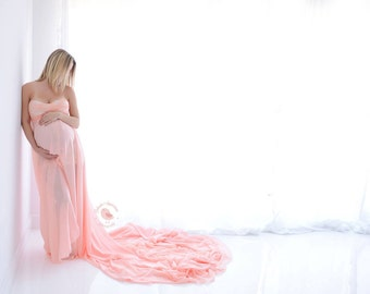 Sweetheart Maternity Gown Maternity Photography Prop Lace Maternity Dress Open Front Maternity Gown For Photography Session Long Maxi Dress