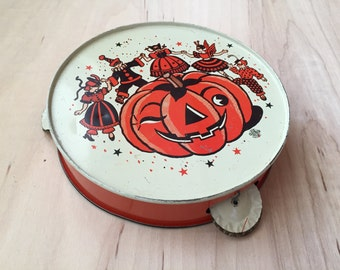 Vintage Halloween Tambourine - U.S. Metal Toy Manufacturing Co.
