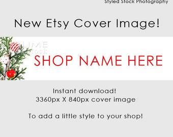 Christmas Etsy  Cover Photo / Cover Image / Shop Cover / Christmas Banner / Holiday Banner / Holiday Cover Photo / Shop Graphics / Style-125