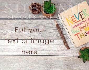 Styled Stock Photography /  Flat Lay / Product Styling / Digital Background / Wood Background / JPEG Digital Image / StockStyle-596