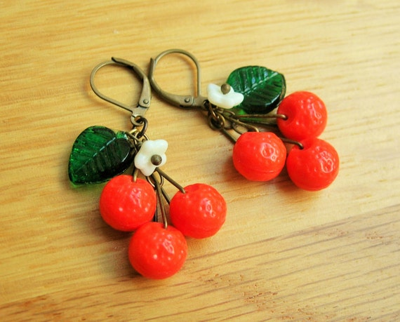 New 1940s Costume Jewelry: Necklaces, Earrings, Pins Orange blossom earrings 1940s inspired citrus fruit earrings satsuma earrings. $15.27 AT vintagedancer.com