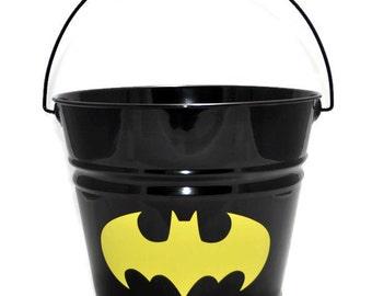 Batman Bucket - Batman Easter Basket - Personalized Easter Basket - Custom Personalized Metal Easter Bucket - Easter Pail - SuperHero Easter
