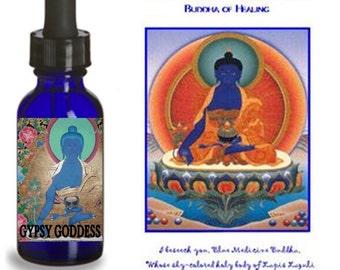 BLUE MEDICINE BUDDHA Healing Elixir by Gypsy Goddess