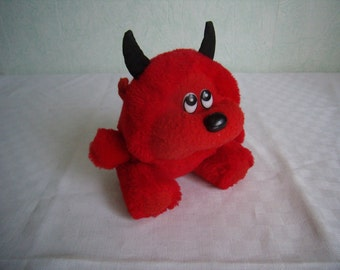 Toy plush, Red Devil, vintage bears plush collection