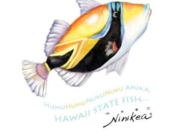 Baby T-shirt, Humuhumu Fish, Toddler T-shirt, Kid t shirt, Hawaii Baby – white cotton, exclusive design, unisex