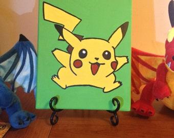 Pikachu 8x10 Canvas Painting