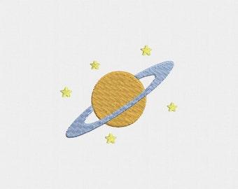 Saturn Machine Embroidery Design - 4 Sizes
