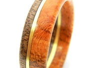 Ready to Ship - Size 9.5 - Unique Walnut and Cherry Wood Ring, Jewelry, Ring, Wood Jewelry, Weddings, Wedding Band