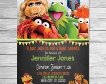 Muppets Movie Baby Shower Invitation Chalkboard - Muppets Shower Invitation - Muppets Most Wanted Invitation - Muppets Printables