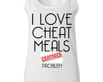 Diet Tank - Diet Shirt - Funny T-Shirt - Cheat Meals - Food Tank - Foodie Clothing - Workout Tank - Gym Tank - Fitness Tank - Gym Shirt