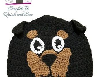 Crochet Rottweiler Beanie