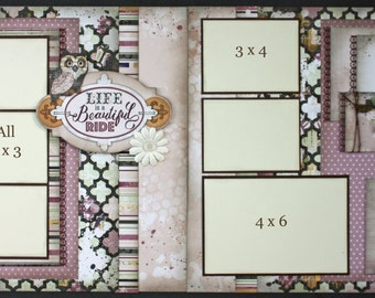 Scrapbook Page Kit titled 'Life is a Beautiful Ride'