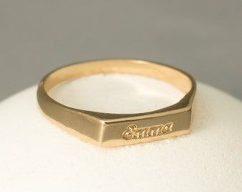 Engravable Ring, Rose Gold Custom Ring, Rose Gold Engraved Ring, Rose Gold Name Ring, Rose Gold Personalized Ring, Name Ring, Mothers Ring