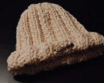 """Ribbed knit """"Blessed"""" hat"""