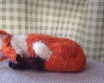 Needle felted fox