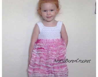 Sashay Ruffles Dress Crochet Pattern *PDF DOWNLOAD ONLY* Instant Download