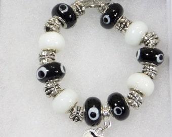 Black and White Charm Bracelet